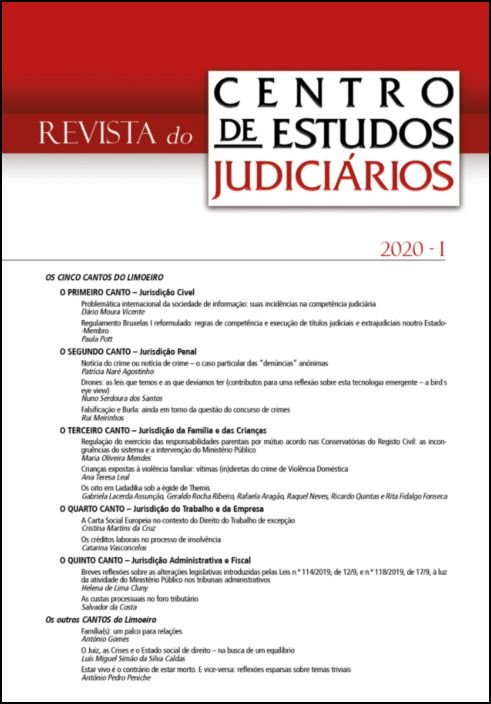 Revista do CEJ n.º 1 - 2020