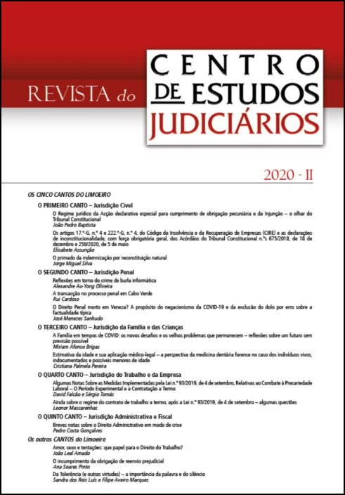 Revista do CEJ n.º 2 - 2020