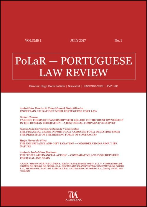 PoLaR Portuguese Law Review - vol. 1 - n.º 1