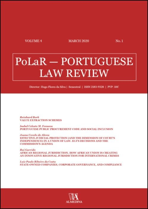 PoLaR Portuguese Law Review - vol. 4 - n.º 1