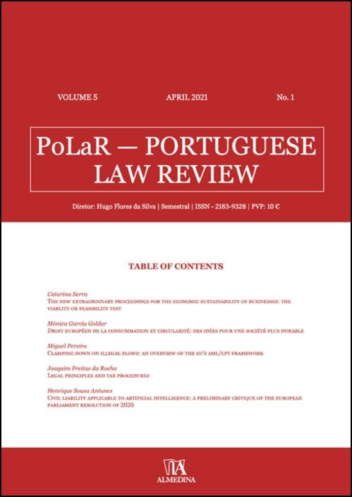 PoLaR Portuguese Law Review - vol. 5 - n.º 1
