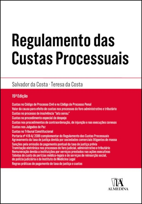 Regulamento das Custas Processuais